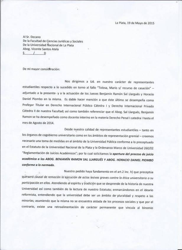 Franja Morada repudio
